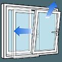 Ventana PVC apertura osciloparalela