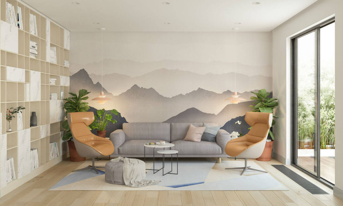 Decoración de interiores con papel pintado