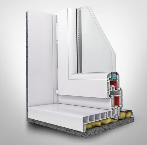 Perfil de ventana 3D con espuma expansiva
