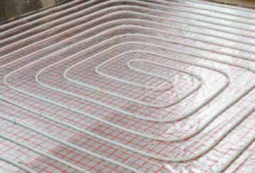 Sistema hidráulico de calefacción por suelo radiante.